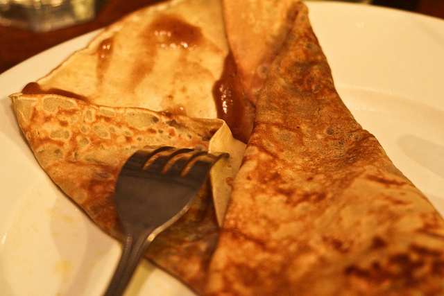 Chestnut cream crêpe
