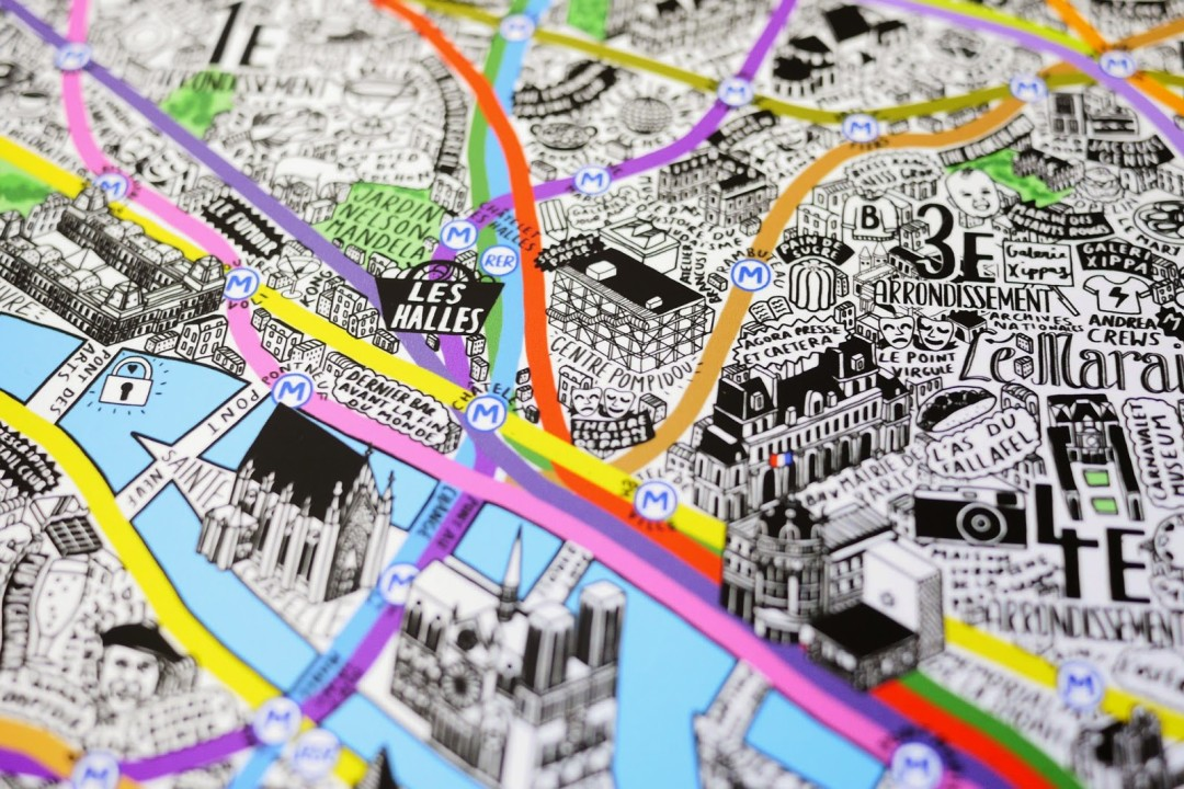 Wish List HandDrawn Illustrated Map Of Paris Lost In Cheeseland - Artistic map of paris