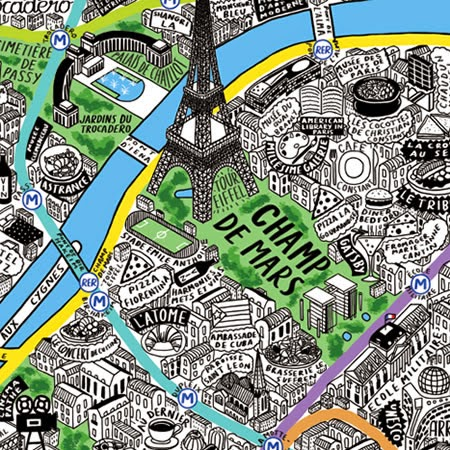 Wish List HandDrawn Illustrated Map Of Paris Lost In Cheeseland - What to see in paris map