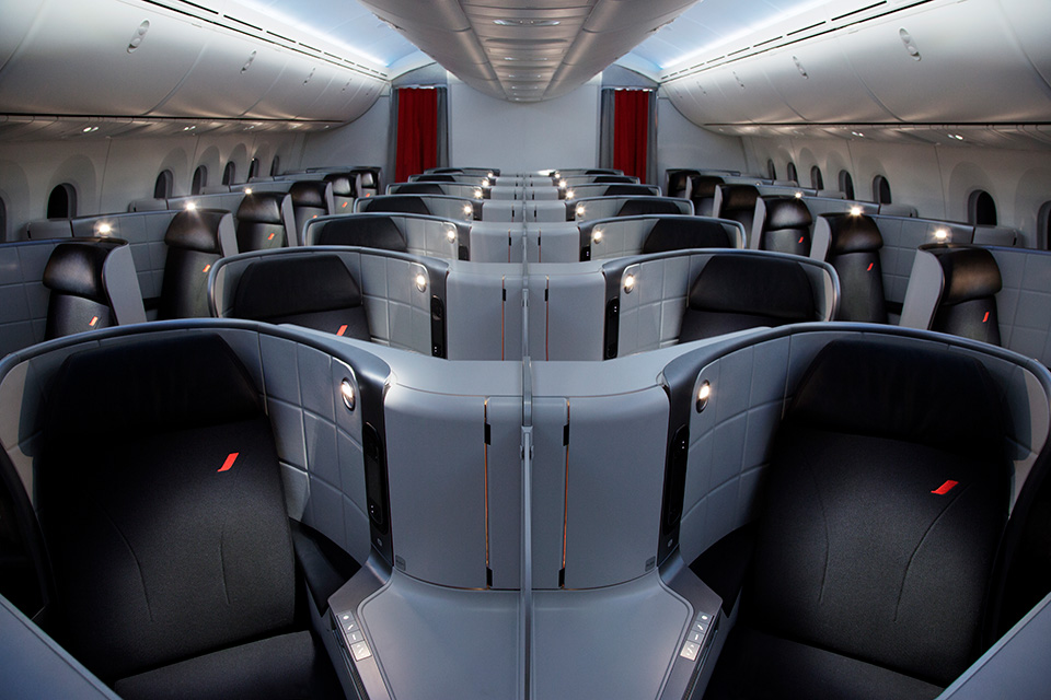 AirFrance Business Class Cabin